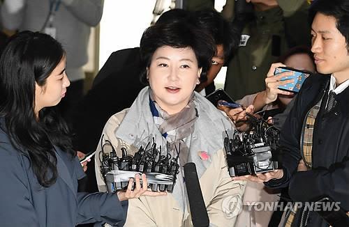 가수 고(故) 김광석씨 부인 서해순 씨 경찰 출석