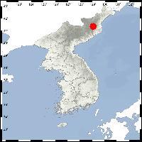 13일 북한 지진 발생 위치