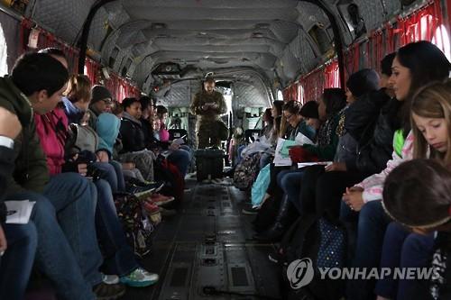 비상시 미군 가족 긴급대피연습인 '커레이저스 채널' 훈련[연합뉴스 자료사진]