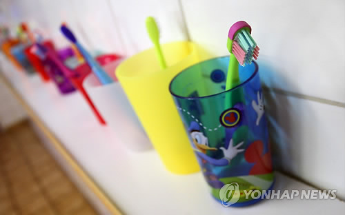 어린이 칫솔[연합뉴스 자료사진]