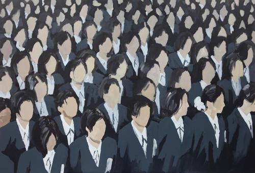 이상원, 학생들, 80x116.5cm, 2016