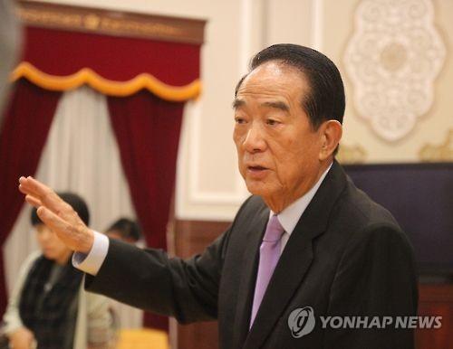 쑹추위 대만 친민당 주석[연합뉴스]