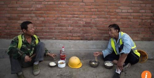 중국의 가난한 노동자의 모습
