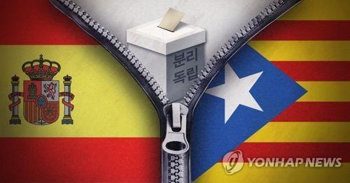 스페인 중앙정부-카탈루냐 자치정부, 분리독립 대립 [연합뉴스 PG]