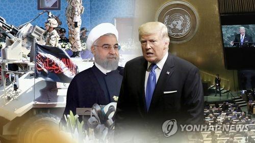 트럼프 미 대통령과 로하니 이란 대통령