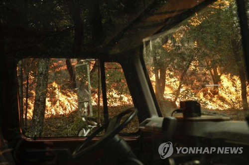 북 캘리포니아 산불 [AP=연합뉴스]