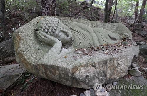 해인아트프로젝트에 나왔던 박성희 '바위에 갇힌 부처를 보다'