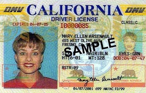 미국 운전면허증 성별 표기