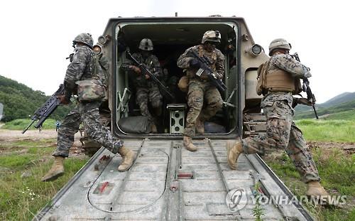 한미 연합군 훈련 장면[연합뉴스 사진자료]