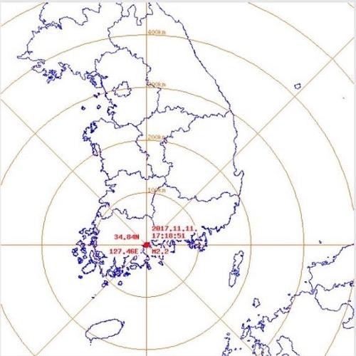 순천 지진 지점 [광주지방기상청 제공=연합뉴스]