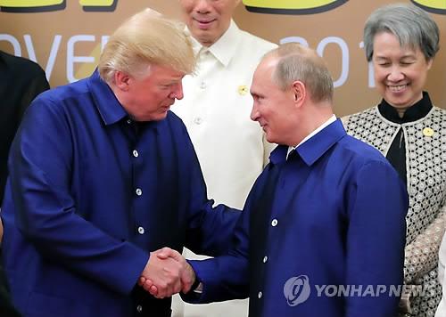 트럼프-푸틴, 베트남 APEC 정상회의서 조우