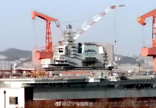 레이더 설치 마친 중국 첫 자국산 항모 [환구망]