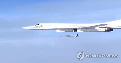 시리아 내전에서 순항미사일을 발사하는 러시아의 Tu-160 전략폭격기[EPA=연합뉴스]
