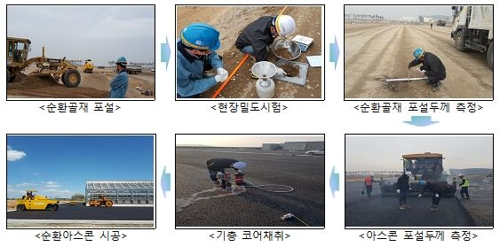 인천국제공항공사 순환골재 활용 모습
