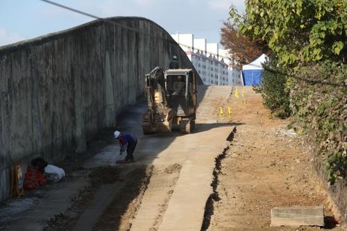 15일 옛 광주교도소 5·18 암매장 추정지 발굴 현장.