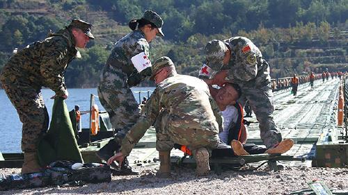 지난해 쿤밍에서 진행된 미중 합동구조훈련[중국 국방부망 캡처]