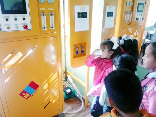 몽골에 '적정기술기반 정수처리시스템' 설치[한국산업기술시험원 제공]