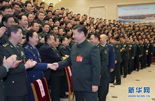 시진핑, 집권 2기 첫 군부 회동 [신화망]