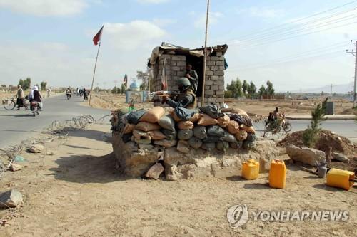 반군 탈레반의 기습공격을 당한 아프가니스탄 경찰 초소[EPA=연합뉴스]