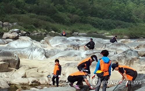 영월군 무릉도원면 요선암 돌개구멍[연합뉴스 자료사진]