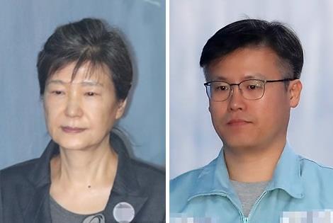 박근혜 전 대통령(왼쪽)과 정호성 전 비서관 [연합뉴스 자료사진]