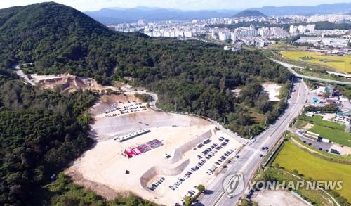 지난 9월 학곡지구 사업부지 모습[연합뉴스 자료사진]