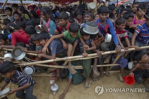 방글라데시 난민촌의 로힝야족 아이들[AFP=연합뉴스 자료사진]