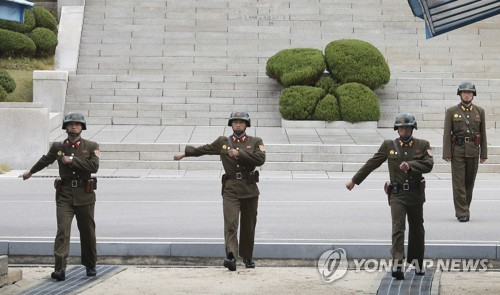 판문점 JSA 북한 경비병[AP Photo=연합뉴스]