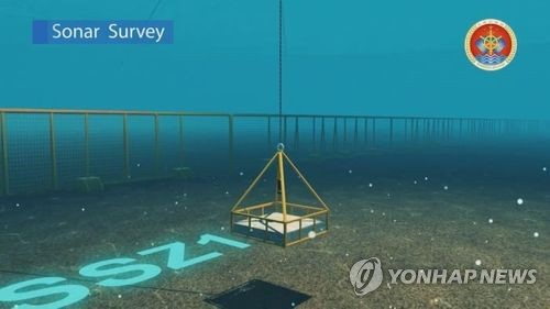 세월호 침몰해역에 투입된 수중음파탐지기 소나