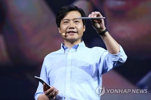 레이쥔 샤오미 CEO [연합뉴스 자료 사진]