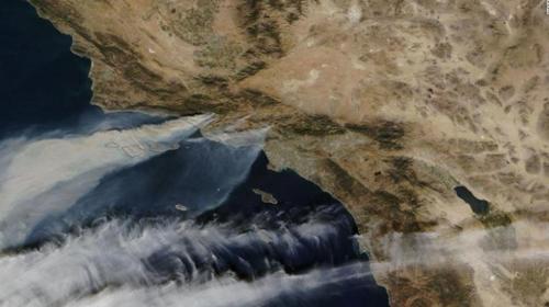 캘리포니아 산불 NASA 촬영 사진