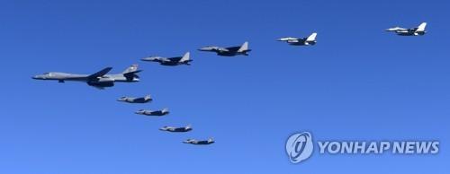 지난 6일 한반도 상공에 전개된 B-1B 폭격기