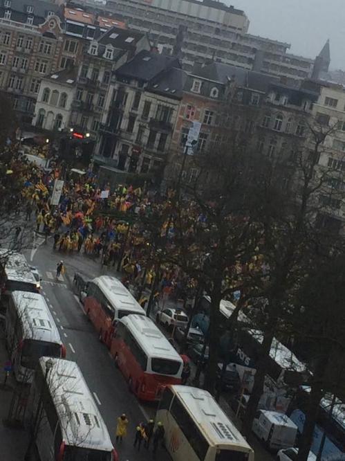 브뤼셀서 카탈루냐 독립 지지 대규모 시위