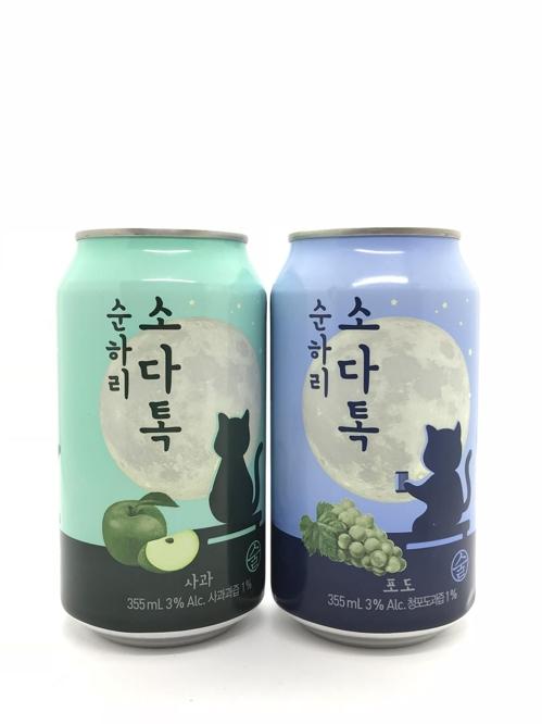 순하리 소다톡[롯데주류 제공]