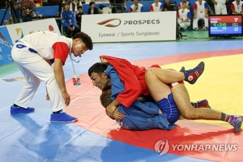 동해에서 열린 국제 삼보대회[연합뉴스 자료사진]