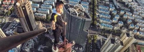 청혼앞둔 中 고층빌딩 클라이머, 62층 빌딩서 추락사