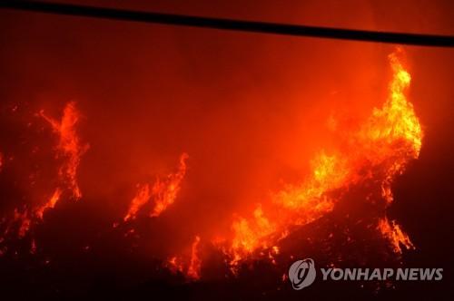 美 캘리포니아 산불로 가옥 1천채 전소…연예인들 대피행렬