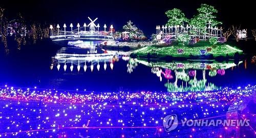 네이처월드에서 개최하던 태안 빛축제