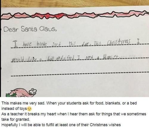 미 텍사스 주 7살 소녀의 산타 편지