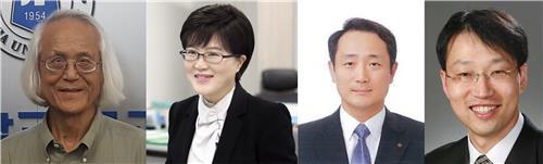 자랑스러운 인하공대인상 수상자. 왼쪽부터 박광춘 김진숙 하정욱 이재영