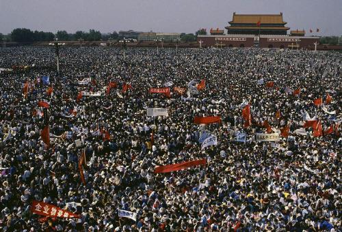 1989년 톈안먼 민주화요구 시위[홍콩01망 캡처]