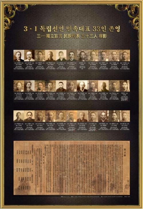 3·1운동 민족대표 33인 존영 배포