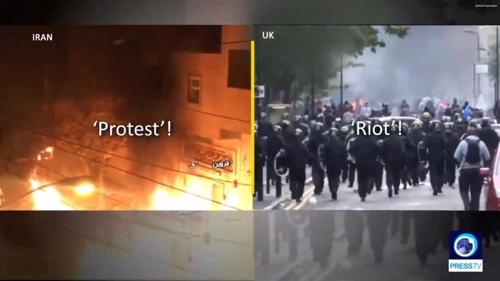 """""""영국은 폭동이고 이란은 항거인가""""[프레스TV]"""