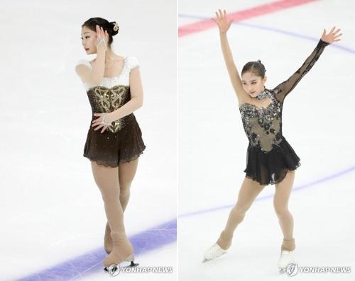2차 선발전 당시 김하늘(왼쪽)과 안소현