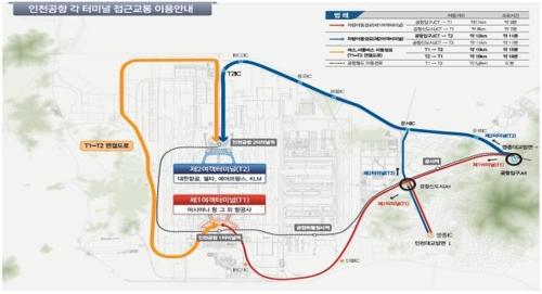 인천공항 각 터미널 접근교통 이용안내