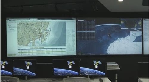 NEC 인공위성 오퍼레이션 센터[NHK 캡처]