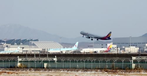 인천공항 아직은 대한항공과 아시아나가 한 곳에