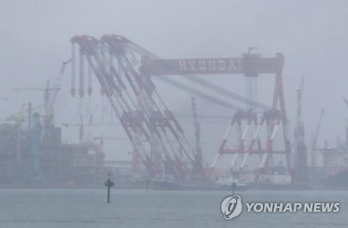 조선업계 흐림 [연합뉴스 자료사진]