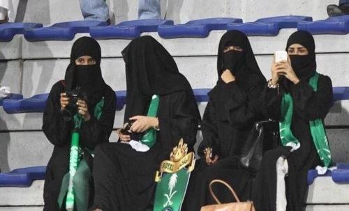 12일 축구경기장에 입장한 사우디 여성 축구팬[트위터]