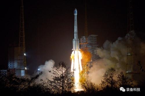 베이더우 위성을 탑재한 창정-3호B 로켓 발사장면 [중국 장비과학 웨이신 캡처]